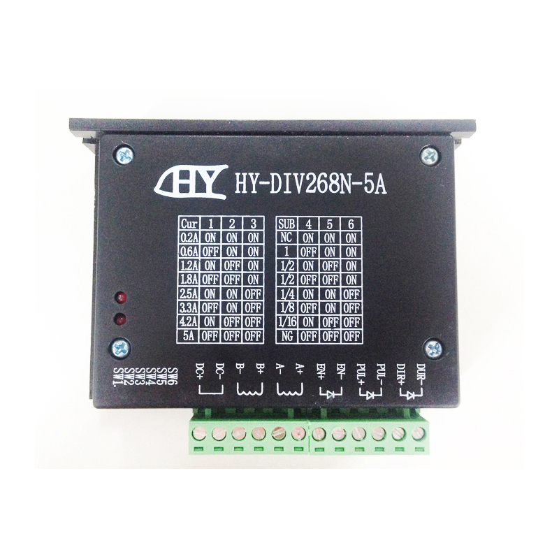 CNC machine HY-DIV268N-5A subdivision-type two-phase hybrid stepping motor drive DC 12-48V power supply stepper driver toothed belt drive motorized stepper motor precision guide rail manufacturer guideway