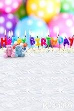 Baby Happy Birthday Studio Background 1.5m x 2m Backgrounds For Photo Studio New Fundo Fotografico Muslin Backdrops Photographic