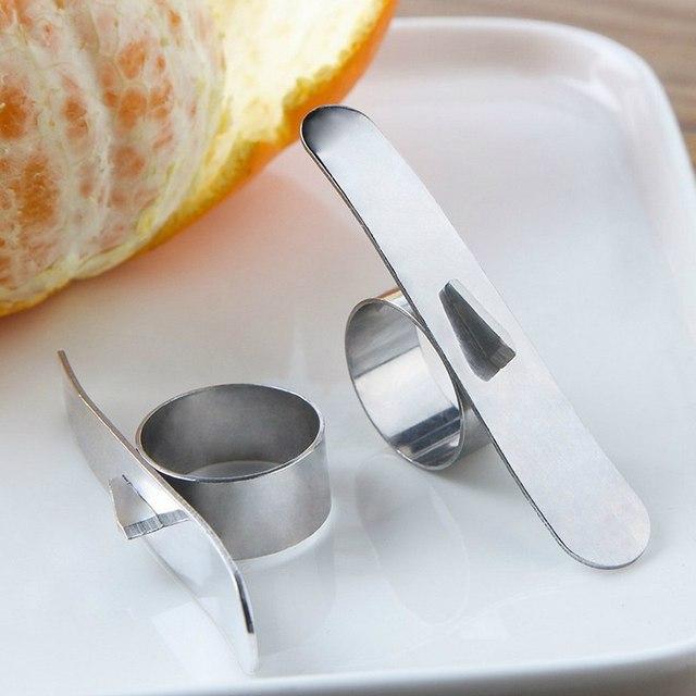 New Stainless Steel Orange Peeler Lemon Citrus Fruit Peeler Skin Remover Orange Parer Peeling Fruit Tools Kitchen Accessories