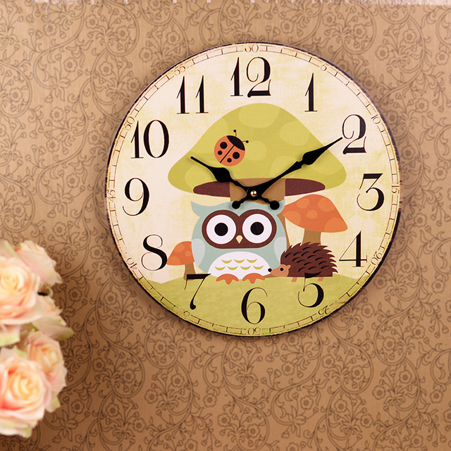 Wood Large Wall Clock Retro Decorative Home Decor Klokken De Parede ...