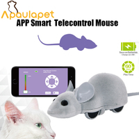 APAUALPET App Cat Mouse Toy Interactive Wireless Remote Control RC Pet Toy Connect With Bluetooth For