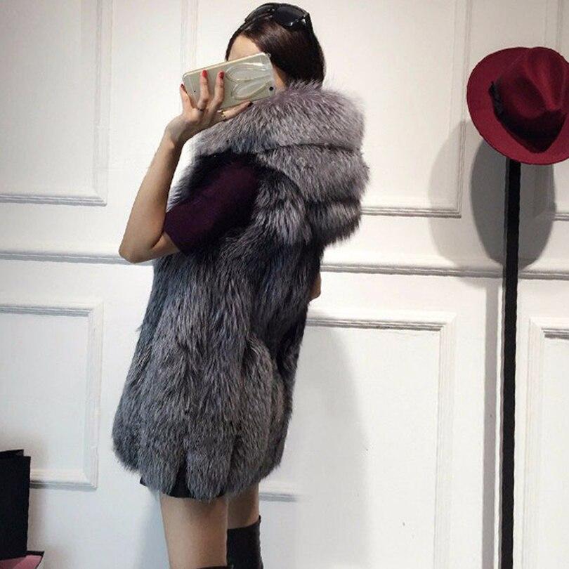 Rompi Mantel 2018 Baru Musim Dingin Bulu Rubah Rompi Bulu Imitasi - Pakaian Wanita - Foto 5