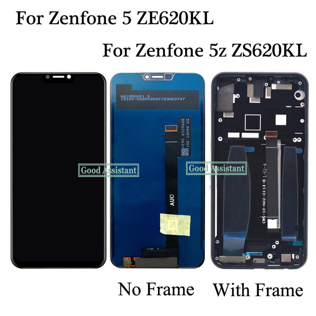 Oryginalny 6.2 cala dla Asus ZenFone 5 2018 ZE620KL X00QD/5Z ZS620KL wyświetlacz LCD montaż digitizera ekranu dotykowego z ramką