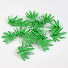 50Pcs MOC City Garden Plants Leaves Grass Part Building Blocks Mini Trees Bricks Legoed Accessories DIY Block Toys Kids Gifts(China)