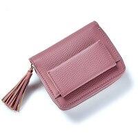 WEICHEN Brand Fashion Women Short Wallets Tassel And Zipper Coin Pocket Top Quality Female Purse
