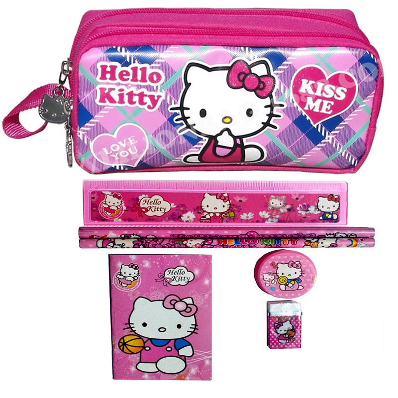 1 set character children hello kitty school Pencil Case set girl stationery set cartoon nylon pencil bag teenager estojo escolar1 set character children hello kitty school Pencil Case set girl stationery set cartoon nylon pencil bag teenager estojo escolar