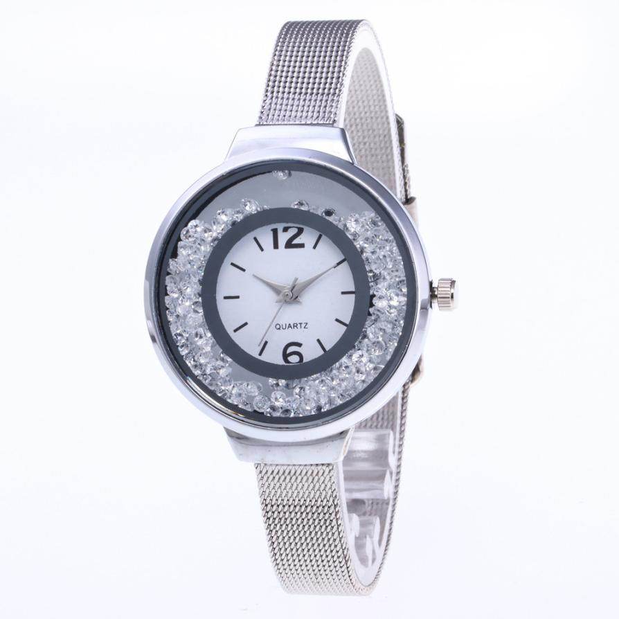 2018 New Beautiful Fashion Simple Watch Ladies Leather Belt Watch For Clock Ladies Gril Dress Gift Watches