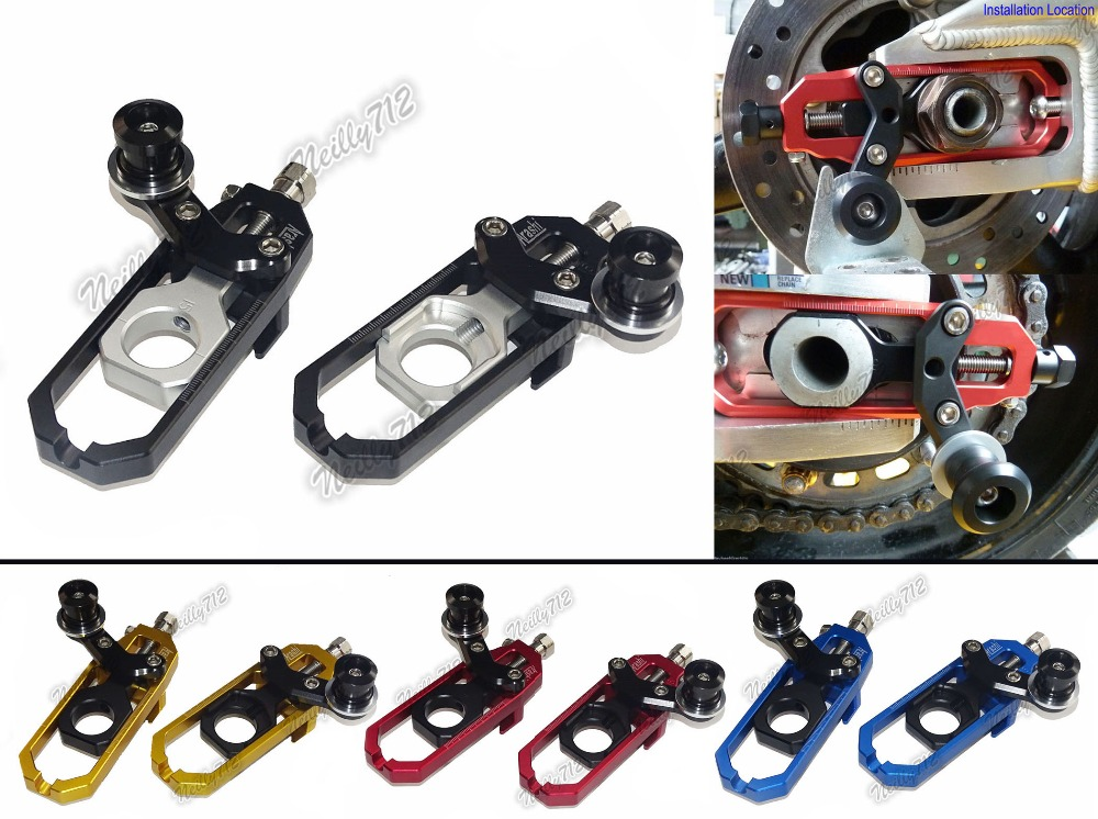 Motorcycle Chain Adjusters with Spool Tensioners Catena For APRILIA RSV4 R RSV4R 1000 Factory APRC 2009 2010 2011 2012 2013 2014 mad moto high quality motorcycle chain adjuster with paddock bobbin fit for aprilia rsv4 2009 2010 2012 2013 2014 red black