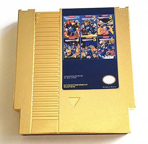 MegaMan1-6 English&Japanese 72 Pins game Cartridge for NES