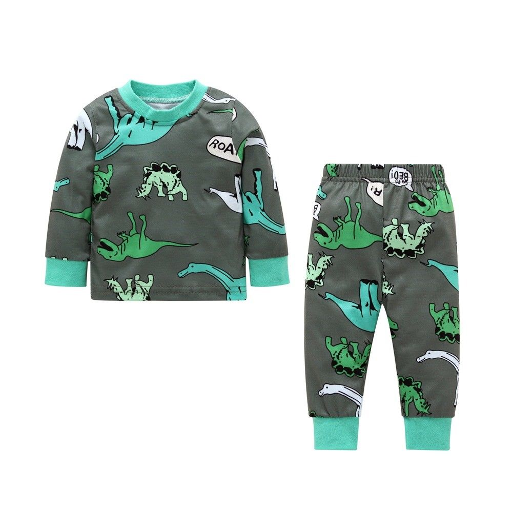 7204c8466652 2018 Toddler Kids Baby Boy Girl Dinosaur Sweatsuit Tops Pants ...