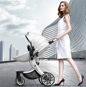 2019 New 2 in 1 Baby Stroller High Landscape Carriage double-sided newborn car Similar to Aulon