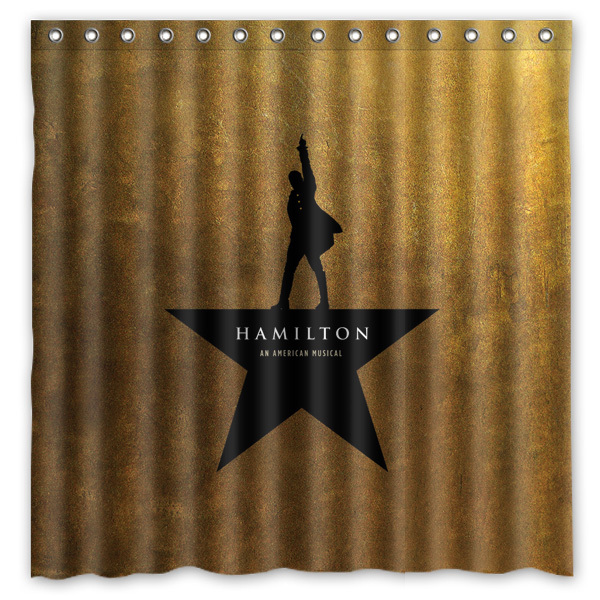hamilton broadway musical printed polyester shower curtain waterproof home bathroom curtains with 12 hooks 180x180cm - Musical Shower Curtains