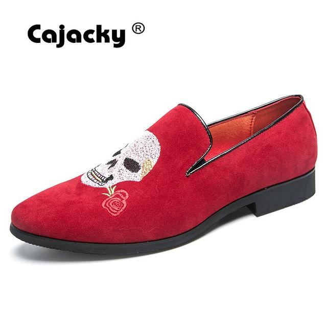 Cajacky חדש גברים לופרס אופנה עיצוב גברים מוקסינים נעלי סתיו לנשימה להחליק על נעלי זכר עישון Mocasines Hombre חתונה
