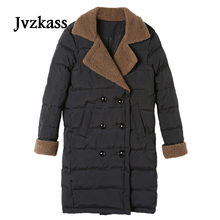 Jvzkass 2018 new Cotton long section of women in the winter loose cotton lambs coat thick jackets Z36