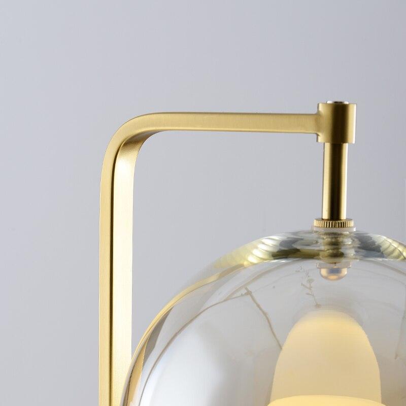 Современный стеклянный стол, металлический Настольный светильник для спальни, светильники, настольные лампы, гостиная, золотой, черный, настольная лампа, домашние настольные лампы AL101 - 6