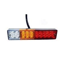 2 piezas/1 lote 12 V Lámparas A Prueba de agua 20 luz Trasera LED de la Lámpara de Señal de Vuelta del Freno Luz de Matrícula para Remolque de Camión