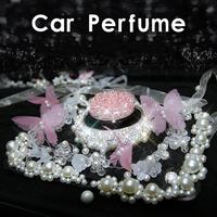 Rhinestone Pearl Car Air Freshener Perfume Clips Fragrance Crystal Pearl Diamond Air Outlet Vent Fresh Car For Women Girls