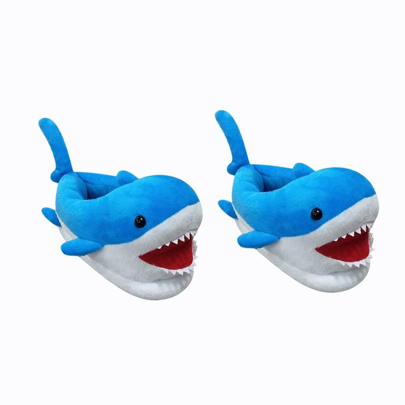 New Funny Shark Shaped Cotton Slipper Winter Slippers Female Child Slippers Cute Plush Slipper Indoor Cotton Shoes 3-6 Years Old