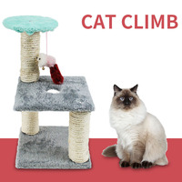 Random Color Cat Jumping Toy with Ladder Scratching Wood Climbing Tree for Cat Climbing Frame Cat Furniture Scratching Post