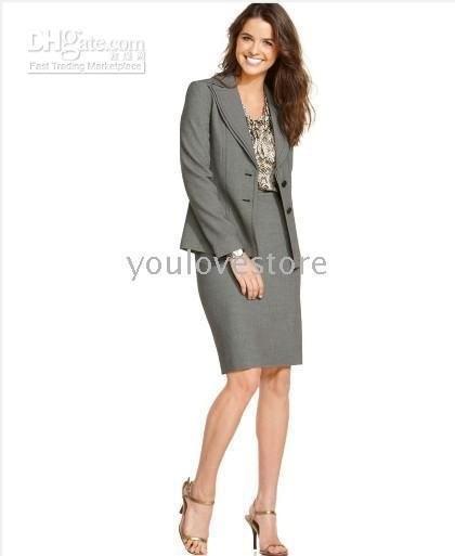 Business Skirt Suit Gray Women Skirt Suit Women's Clothing Brand ...