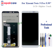 цены на For Xiaomi Redmi Note 5 Pro LCD Display Touch Screen Digitizer Assembly Replacement For Xiaomi Redmi Note 5 Pro 5.99 Inch  в интернет-магазинах