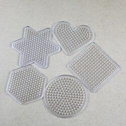 Puzzle Pegboards Muster Für 5mm Hama Perlen Perler Perlen DIY Kinderhandwerk Kunststoff Schablone kinder sicherung perlen PUPUKOU