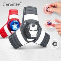 Captain America Spiderman Hulk Fidget Spinner Metal Hand Spinner Alloy Finger Spinner Tri Spiner Figet Toys Anti Stress