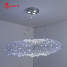 Modern LED cloud Pendant Lights with twinkle light for living room dining indoor adjustable hanging Lighting Fixture