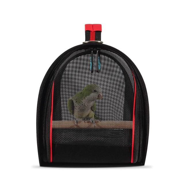 1KG Portable Bird Cage Macaw Bag with Wooden Standing Stick Foldable Breathable Bird Bag Two-way Ventilation Parrot Cage 5