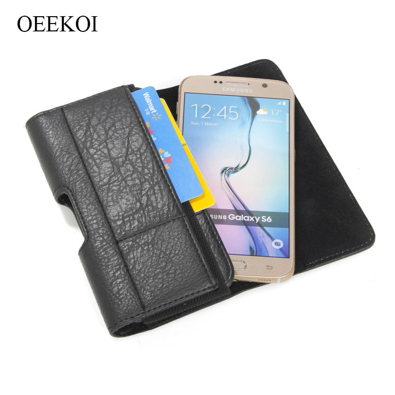 OEEKOI Stone Pattern Belt Clip Pouch Holster Case for Vivo Y53i/Y53/Y51/Y35A/X5/X3S/X3/V3/V1 2015/X5M/Y51e 5 inch