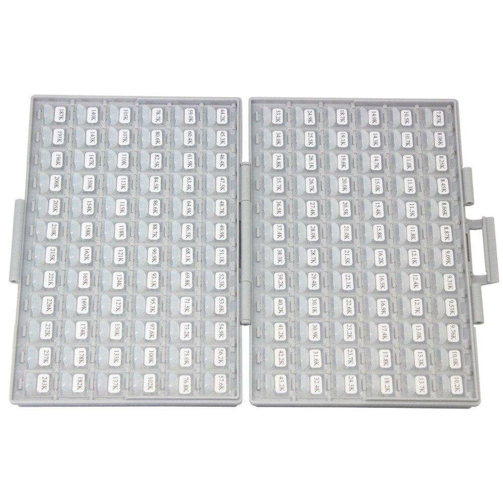 AideTek 1206 takisti BOX komplektid E96 seeria 1% RoHS 491V x100tk - Tööriistade hoiustamine - Foto 4