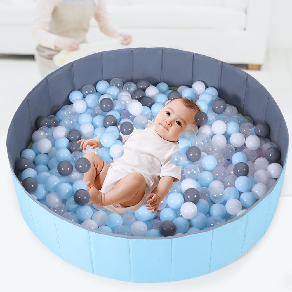 Enfants gonflable pliant piscine nourrissons parc pour bébé clôture jeu intérieur océan balles piscine océan avec panier sûr tapis de jeu