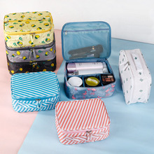 цена на Women Makeup Bag Cosmetic Bag Case Make Up Organizer Toiletry Storage  Rushed Floral Nylon Zipper New Travel Wash Pouch