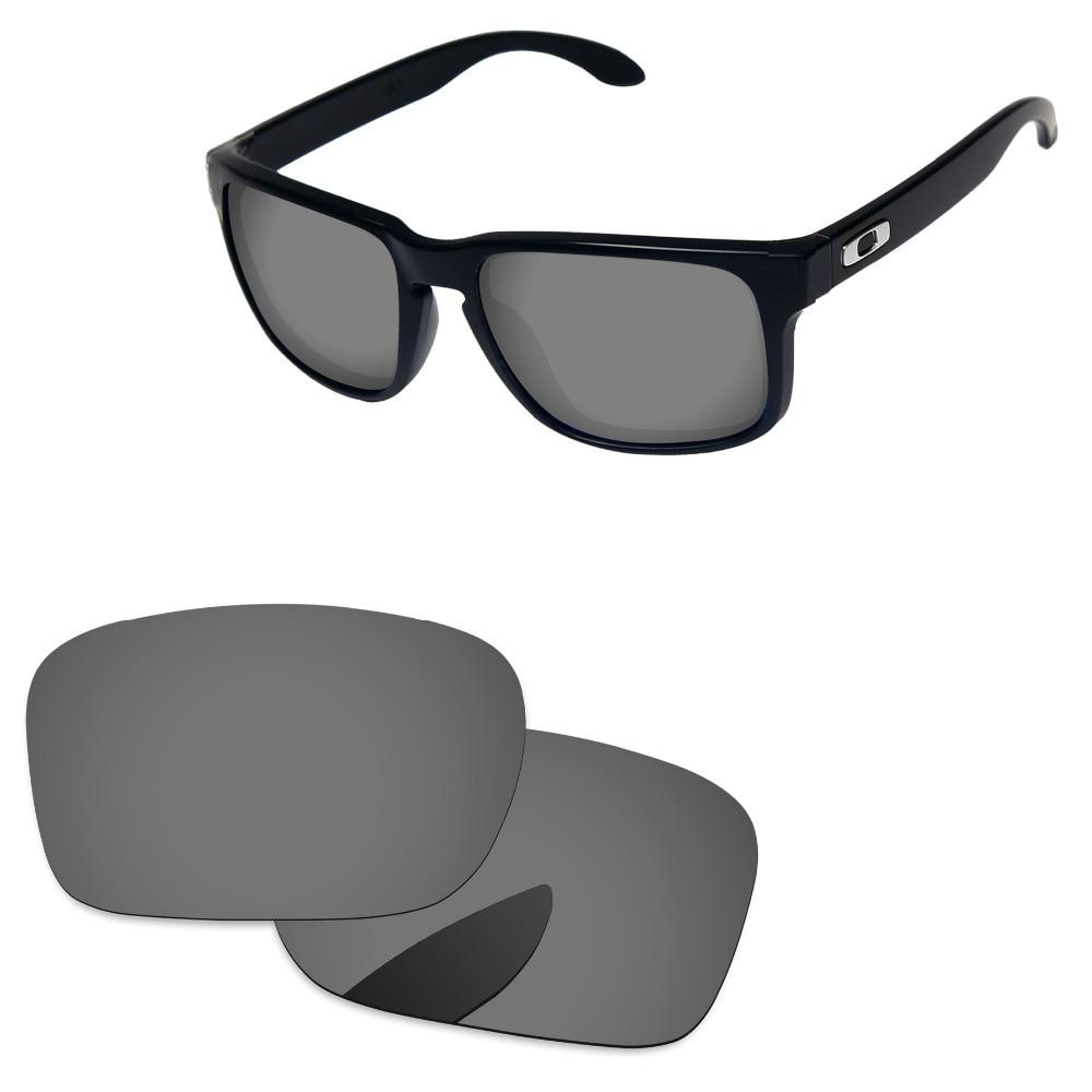 7b09392bdc Cromo Negro espejo polarizadas lentes para auténtica Holbrook gafas de sol  marco 100% UVA y UVB protección