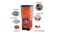 Toy Capsule/ Bouncing Ball Vending Machine Candy Vending Machine Gumball Machine Candy Dispenser with Coin Box GV18F