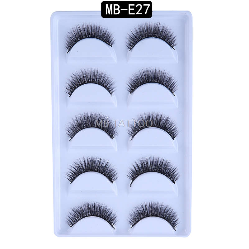 HTB1.qVbRiLaK1RjSZFxq6ymPFXaI New 3D 5 Pairs Mink Eyelashes extension make up natural Long false eyelashes fake eye Lashes mink Makeup wholesale Lashes