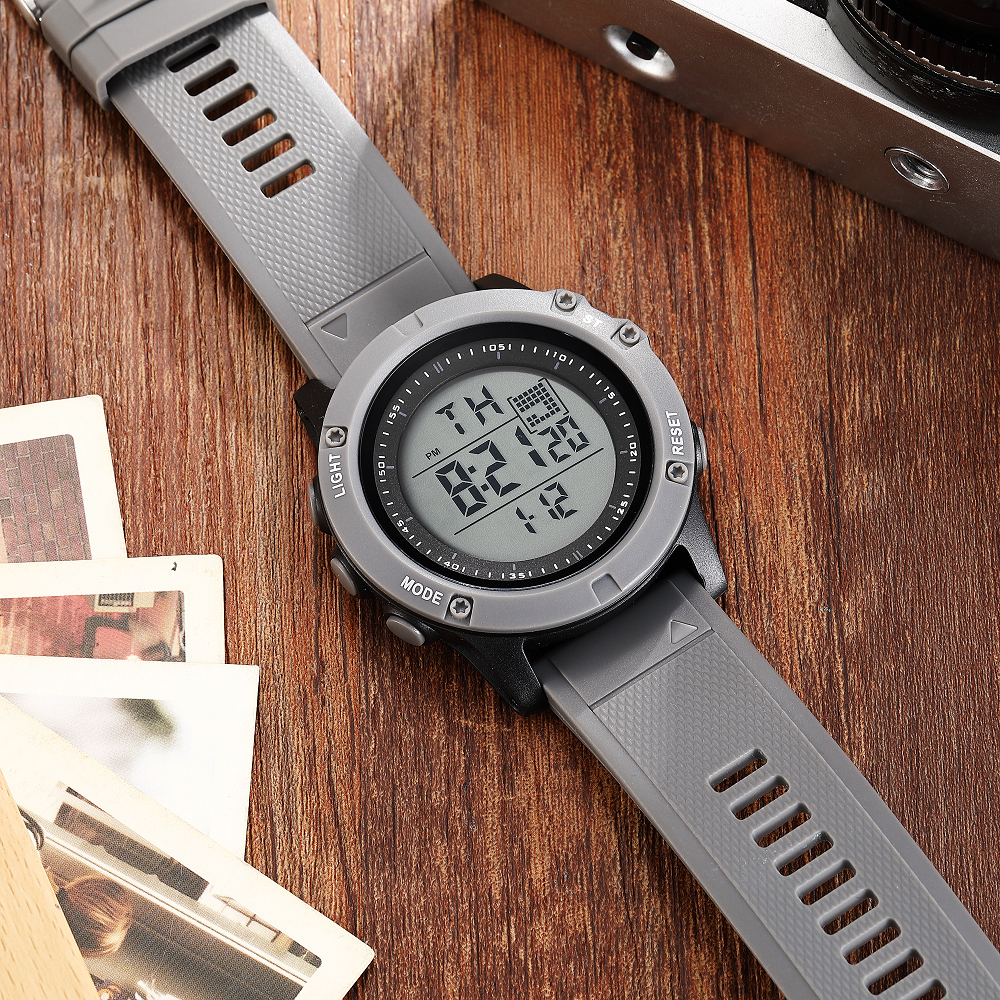 OHSEN Fashion Men Sports Watch Waterproof 50M Outdoor Digital Watch Swimming Army Grey Wristwatch Reloj Hombre Montre Homme