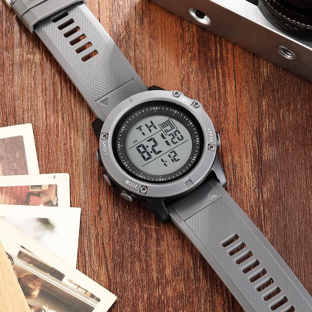 OHSEN Fashion Men Sports Watch Waterproof 50M Outdoor Digital Watch Swimming Army Grey Wristwatch Reloj Hombre Montre Homme