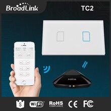 New Broadlink rm professional rm2 WIFI+IR+RFUniversal Clever controller+TC2 2Gang Wi-fi Glass Contact Wall Mild Change Good Residence