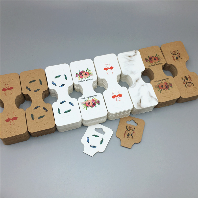 24Pcs 9*3.5cm Paper Cardboard Bracelet Packing Cards Fashion Wrist Strap/Necklace Card Handmade Pendant Displays Card