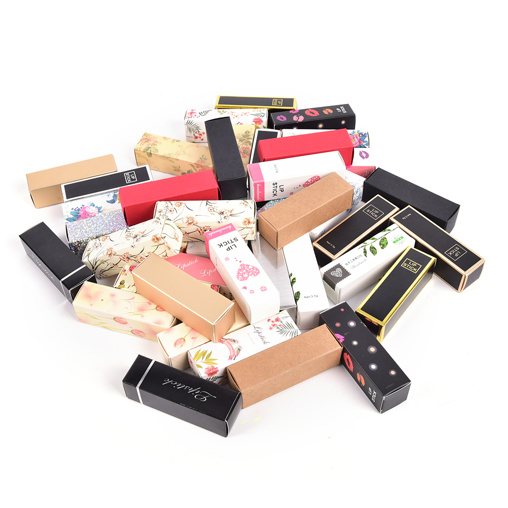 10pcs/lot 25*25*88mm 5G 5ml Lipstick Tube DIY Packing Box Lip Balm Tube Packaging Carton Box  Colorful Kraft Paper Gift