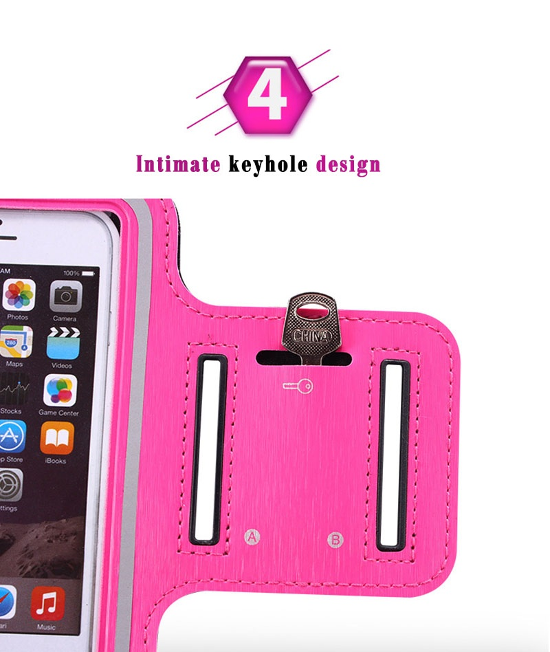 Image 5 - ユニバーサル 4 6 インチスポーツ用防水アームバンド iPhone 6 7 8 プラス X XS 最大 XR  携帯電話ケース屋外ランニングスポーツ腕章 -    グループ上の 携帯電話