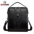 Famous Brand Bag Men Messenger Bags Double Zipper Trunk Leather Handbags Designer Handbags High Quality Men Bag Shoulder Bags