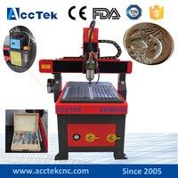 Acctek Good service cnc model stl cnc 6090 cnc lathe machine prices mini small router cnc