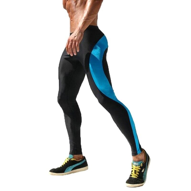 Sport Yoga Pant Mens Joggers Sexy Tight Pants Men Compression Pants Ankle Length Pants Male Trousers Sweatpants Trousers Skinny in Yoga Pants from Sports Entertainment