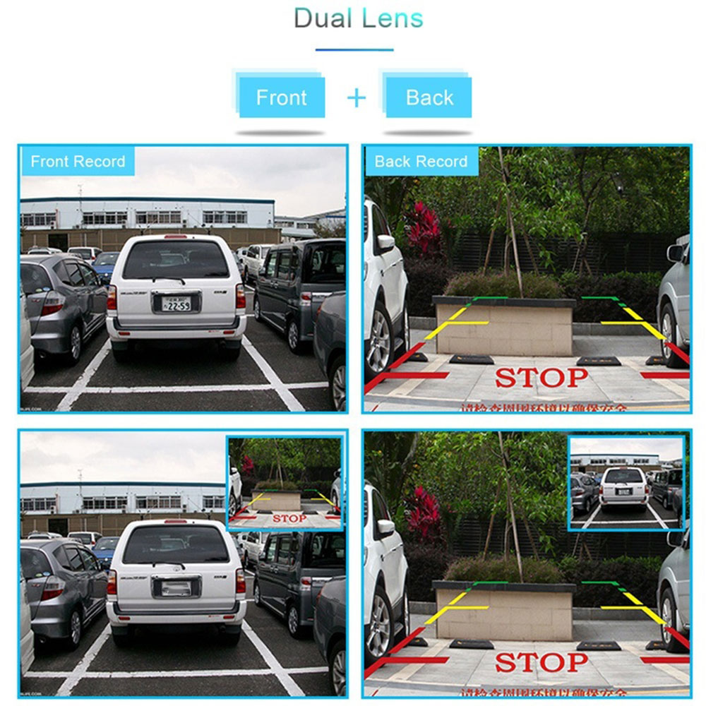 Автомобильный видеомагнитофон зеркало заднего вида для вождения камера Dash камера двойной объектив ночного видения ультратонкий Автомобильный dvr цифровой