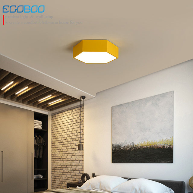 Online Shop Ceiling light LED 20W Iron and Acrylic Polygon Seal ...