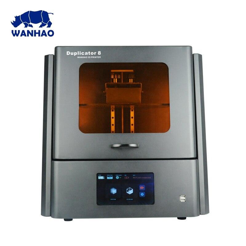 2018 WANHAO plus grand pas cher DLP LCD SLA Résine Bijoux Dentaire 3D Imprimante D8 avec 500 ml de résine et livraison gratuite coût