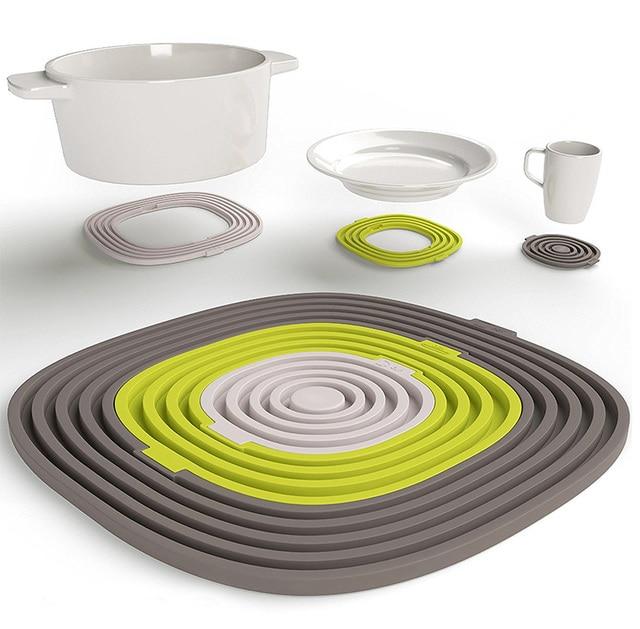 Heat Resistant Silicone Trivet Mats Non Slip Potholder Hot Pads Pot Holders  Spoon Rest U0026