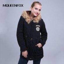 Новинка 2017 года Мех пальто парка с капюшоном зимние Для женщин женские куртки Военное Дело Для женщин зимняя куртка S и Пальто и пуховики Женская зимняя обувь куртка